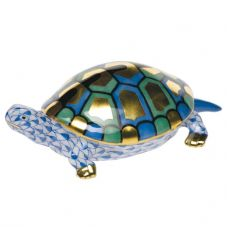 Herend Porcelain Fishnet Figurine of a Turtle (Small)